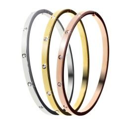 Set de 3 Bracelets ornés de Cristaux Swarovski