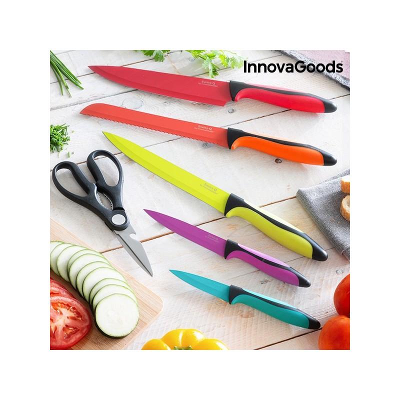 Set de couteaux de cuisine swiss q - Ensemble couteaux de cuisine ...