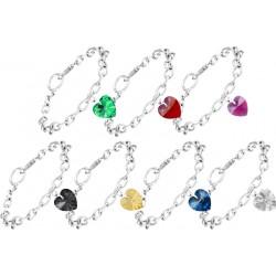 Bracelet coeur orné de Cristaux Swarovski