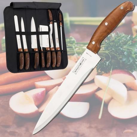 Couteaux de Cuisine 9 Pièces Avec étui en Cuir