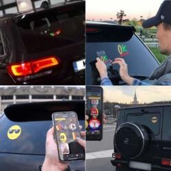 Ecran LED Emoticone pour voiture