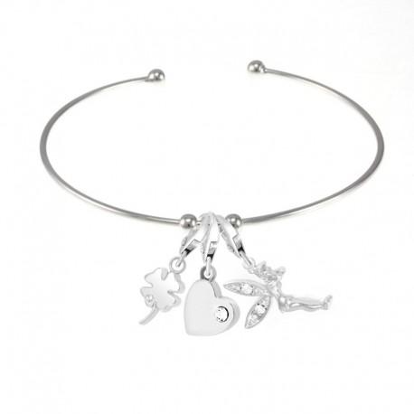 Bracelet Charm orné de Cristaux Swarovski
