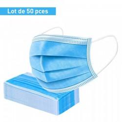 Lot De 50 Masques De Protection Chirurgicaux