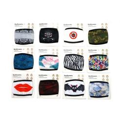 Set de 24 Masques en tissu lavable Fashion