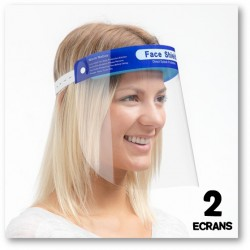 SET DE 2 ÉCRANS DE PROTECTION FACIALE