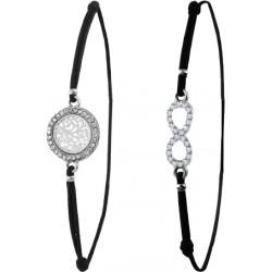 Bracelet élastique arbre de vie ou infini orné de cristaux